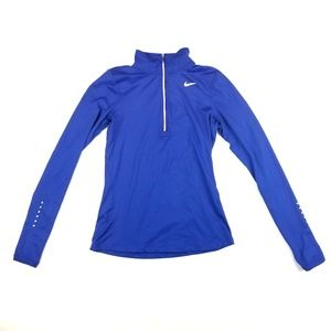 Womens Nike Dri-Fit Running Dark Blue Front Zip